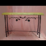Sofa Table with Flower Vine