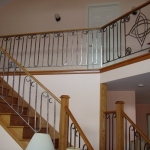 Stair railing with Celtic Knots 1