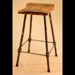 4 LEGGED COUNTER HEIGHT STOOL WITH CEDAR SEAT